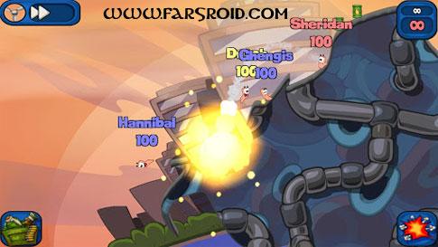دانلود Worms 2: Armageddon 1.4.0 – بازی جنگ کرم ها 2 اندروید + دیتا
