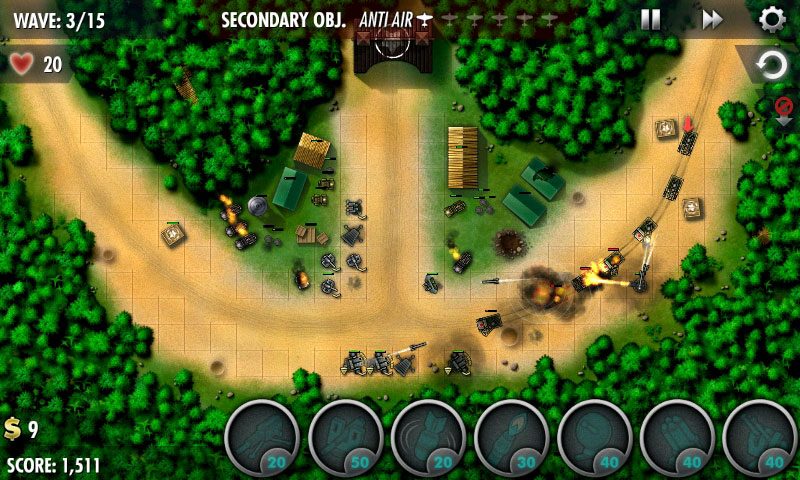 iBomber Defense Pacific Android بازی اندروید
