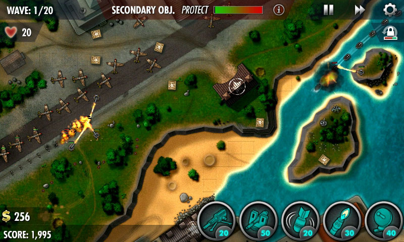 iBomber Defense Pacific Android بازی اندروید