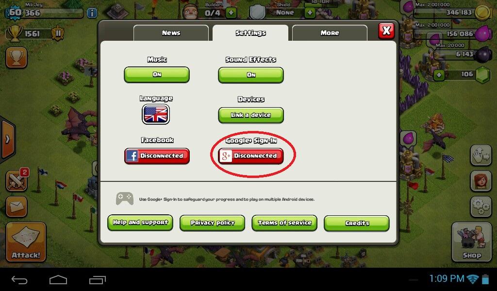 3 روش برای سینک کردن بازی Clash of Clans به جیمیل !