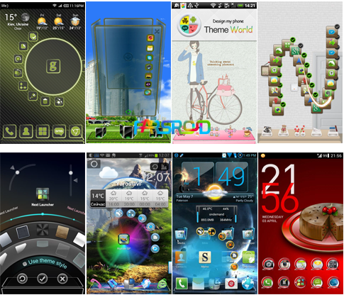 Introducing and downloading 10 new and beautiful themes for Next Launcher Android