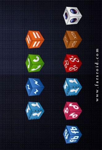 3D Cube Icons APEX/NOVA/GO/ADW Android - تم اندروید
