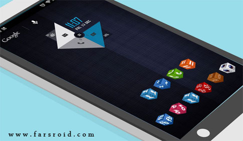 3D Cube Icons APEX/NOVA/GO/ADW Android - تم جدید اندروید