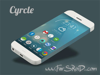 Cyrcle Icon Theme Apex Nova Go Android تم اندروید