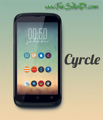 Cyrcle Icon Theme Apex Nova Go Android تم اندروید