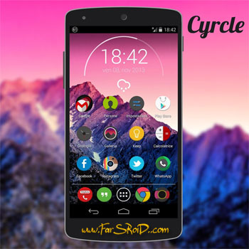 Cyrcle Icon Theme Apex Nova Go Android تم جدید اندروید