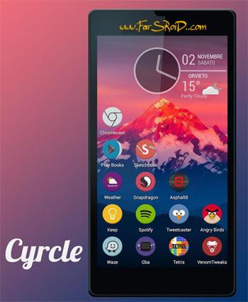 Cyrcle Icon Theme Apex Nova Go Android تم جدید اندروید