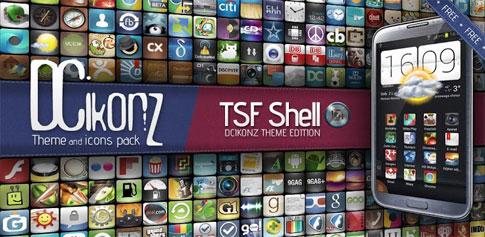 DCikonZ TSF Shell Theme - تم زیبای اندروید