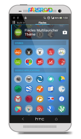 Flacles Multilauncher Theme Android تم اندروید