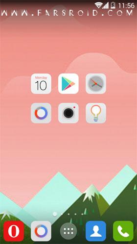 Flaticons Apex Nova ADW Theme Android تم جدید و رایگان اندروید