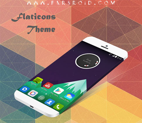 Flaticons Apex Nova ADW Theme Android - تم جدید آندروید