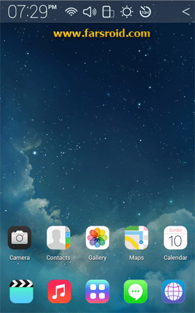 [Full HD] iOS7 Atom theme Android تم اندروید