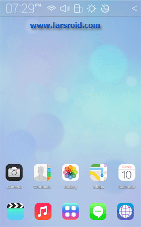 دانلود Full HD iOS7 Atom theme 1.3 – تم اچ دی آی اُ اس 7 برای اندروید