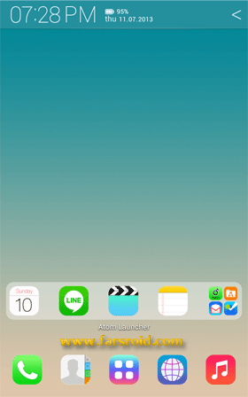 Download [Full HD] iOS7 Atom theme Android Apk - NEW