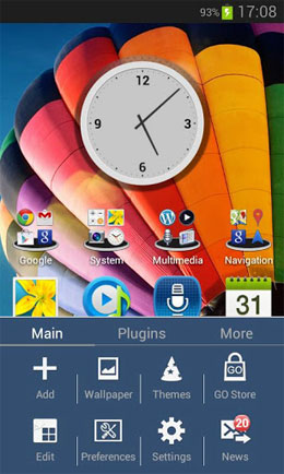 Galaxy S4 HD Multi Launcher Theme Android