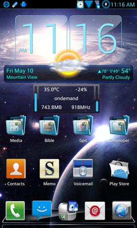 Galaxy S4.3 Blend NextLauncher