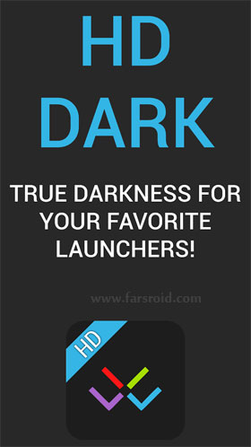 HD Dark - Apex, Nova, ADW, GO Android اندروید