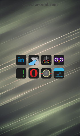 HD Dark - Apex, Nova, ADW, GO Android تم جدید اندروید