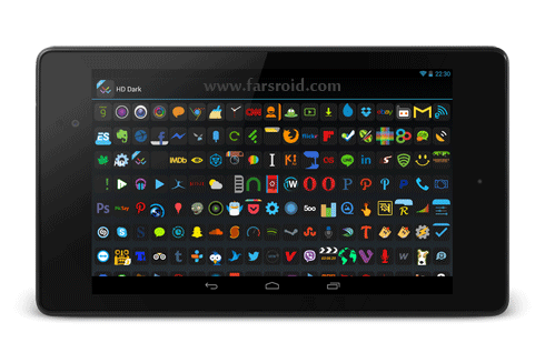 Download HD Dark - Apex, Nova, ADW, GO Android APK NEW