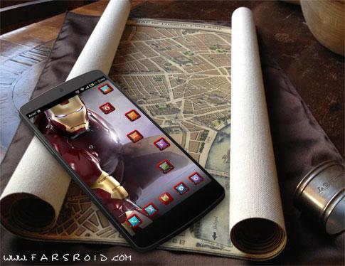 IRONMAN HD APEX/ADW/NOVA/GO Android - تم رایگان اندروید