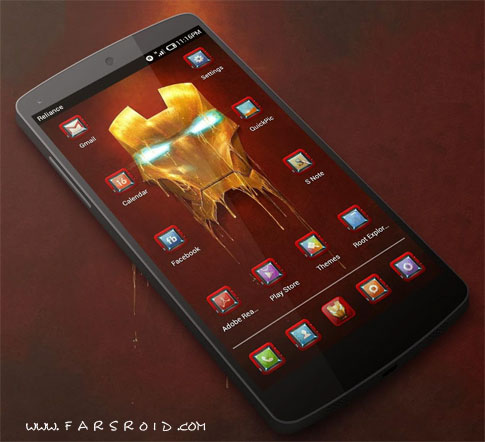 IRONMAN HD APEX/ADW/NOVA/GO Android - تم رایگان اندروید