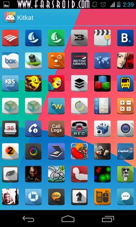 KitKat (Apex Nova Adw theme) Android تم اندروید