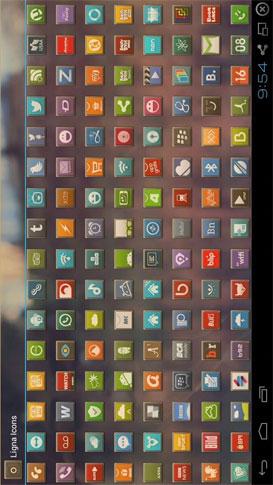 LIGNA ICONS APEX/NOVA/ADW/GO Android تم فری اندروید