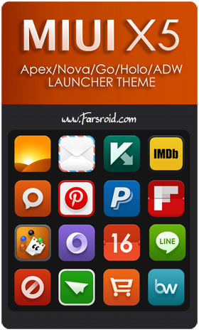 Download MIUI X5 HD Apex/Nova/ADW Theme Android Apk - New