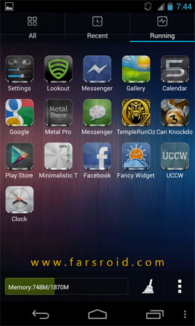 Metal (APEX/NOVA/GO/ADW THEME) Android تم اندروید