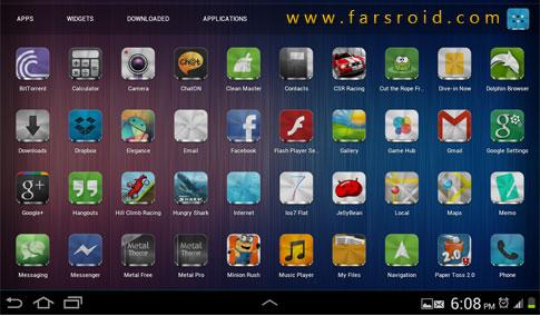 Download Metal (APEX/NOVA/GO/ADW THEME) Android APK