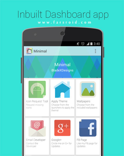 Minimal APEX NOVA KITKAT THEME Android - تم فری اندروید