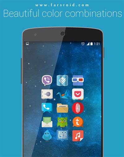 Minimal APEX NOVA KITKAT THEME Android - تم های پولی اندروید