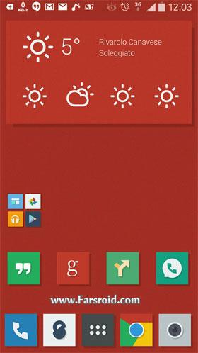 دانلود Naxos Flat Icon Pack ADW Nova 3.1.0 – تم شیک آندروید – رایگان