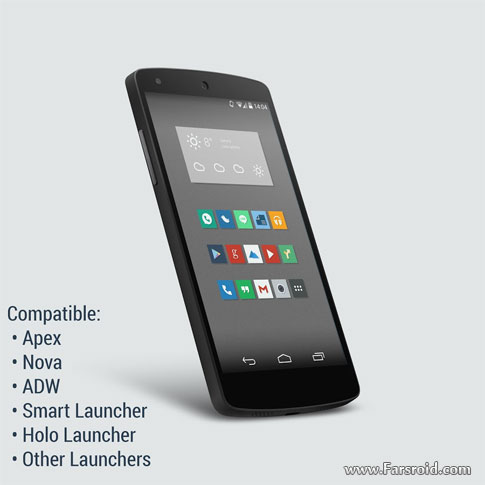 Download Naxos Flat Icon Pack ADW Nova Android Apk - NEW