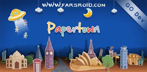 دانلود Papertown Super Theme GO - تم کارتونی اندروید