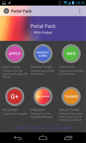Portal Pack: Nova Apex ADW Android تم اندروید