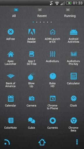 SMPL Blue Theme Go/Nova/Apex Android