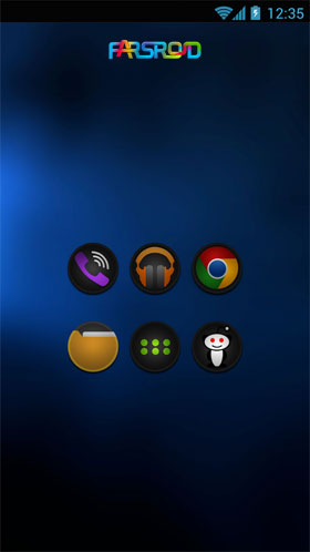 STEALTH - Go Apex Nova Theme Android تم اندروید