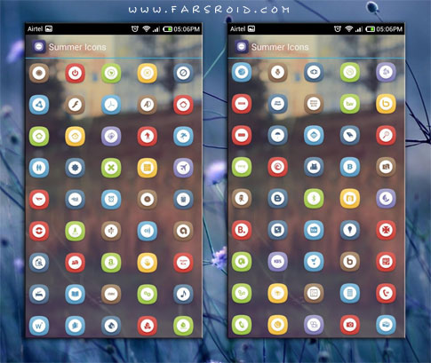 SUMMER ICONS APEX/NOVA/GO/ADW Android - تم جدید اندروید