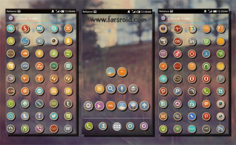 Shadow Themes APEX/NOVA/ADW/GO Android - NEW