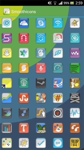 Smoothicons Apex Nova Holo Adw Android تم اندروید