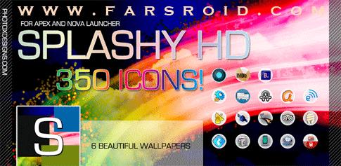 دانلود Splashy HD Apex / Nova Theme - تم بسیار زیبای اندروید 4