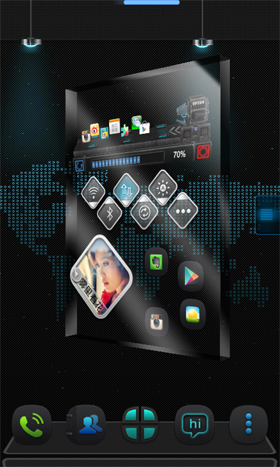 Thank Next Launcher Theme