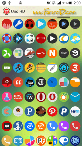 Uno HD Multilauncher Theme Android تم اندروید