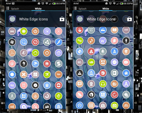 WHITE EDGE ICONS APEX/NOVA/ADW Android تم اندروید - جدید