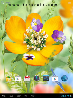 3D Flowers Live Wallpaper Android - برنامه اندروید