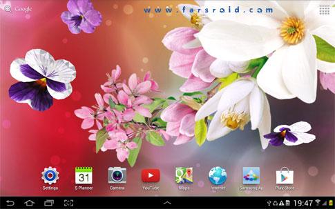 دانلود ۳D Flowers Live Wallpaper 1.0.1 – والپیپر گلهای سه بعدی اندروید