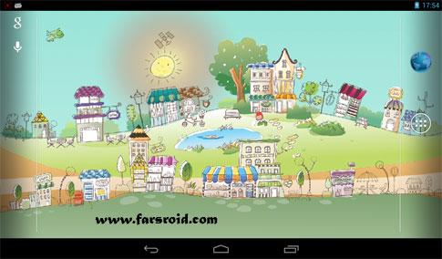 دانلود Hand-Drawn City Wallpaper PRO - لایو والپیپر شهر نقاشی اندروید