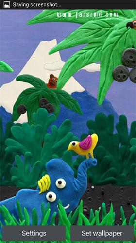 دانلود دو والپیپر جدید Plasticine ocean 1.0.21 و Plasticine jungle 1.0.21 اندروید