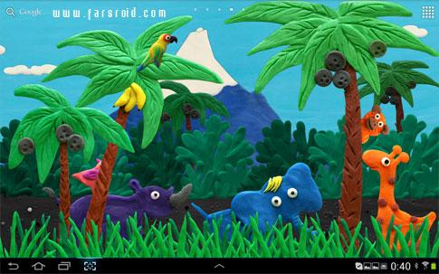 Plasticine jungle LWP - والپیپر زنده جنگل اندروید